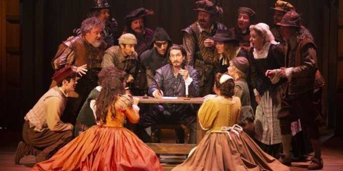 Members of the cast of the Bard on the Beach Shakespeare Festival production of Shakespeare in Love. Photo by Tim Matheson.