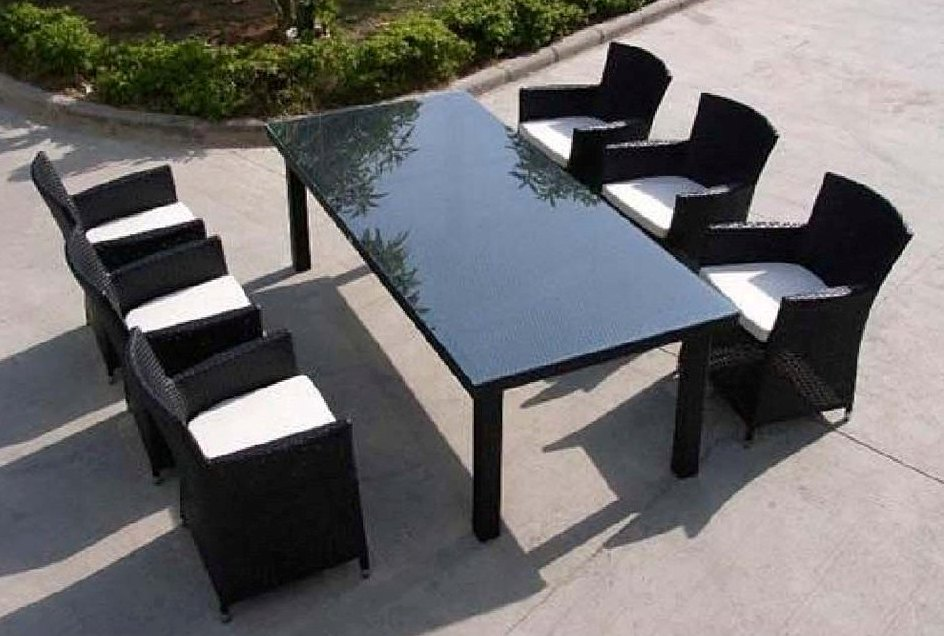 6 seater outdoor dining table