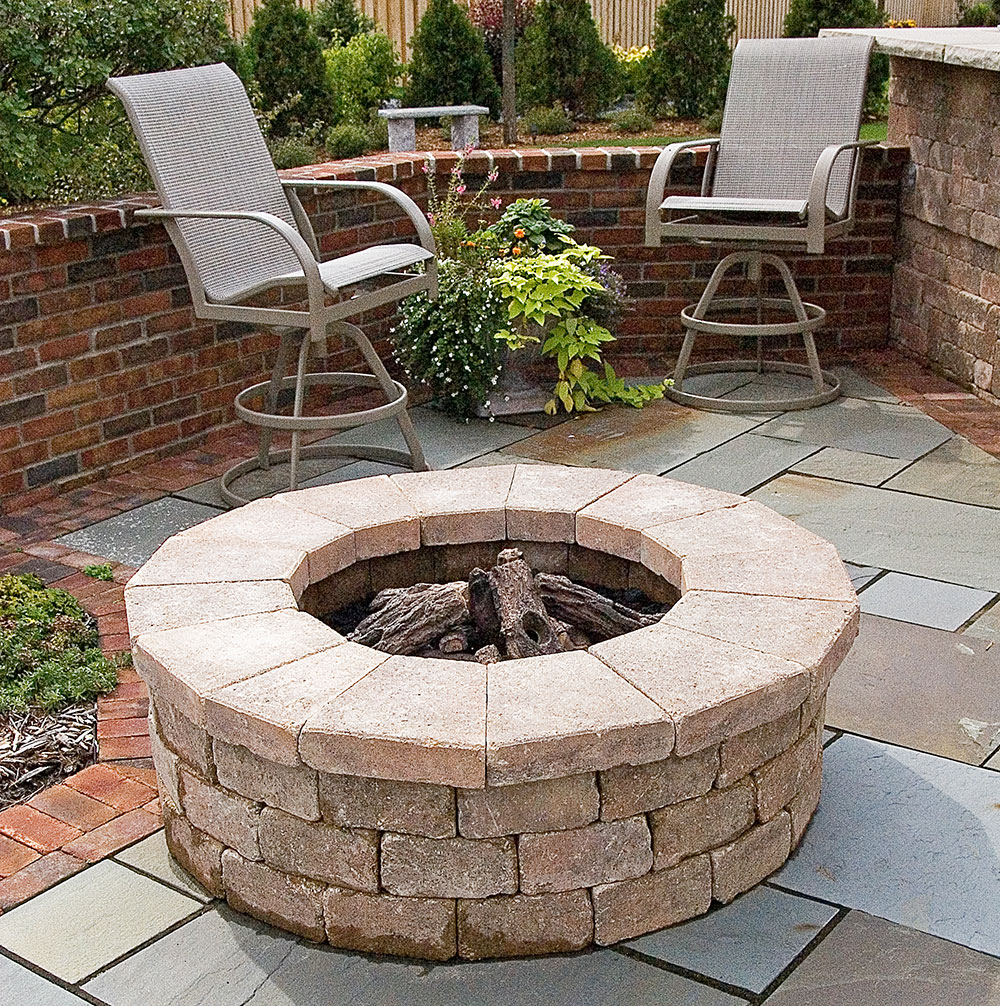 Fire Pit and Landscape Design, in Appleton, WI on Garden Ideas With Fire Pit id=91550