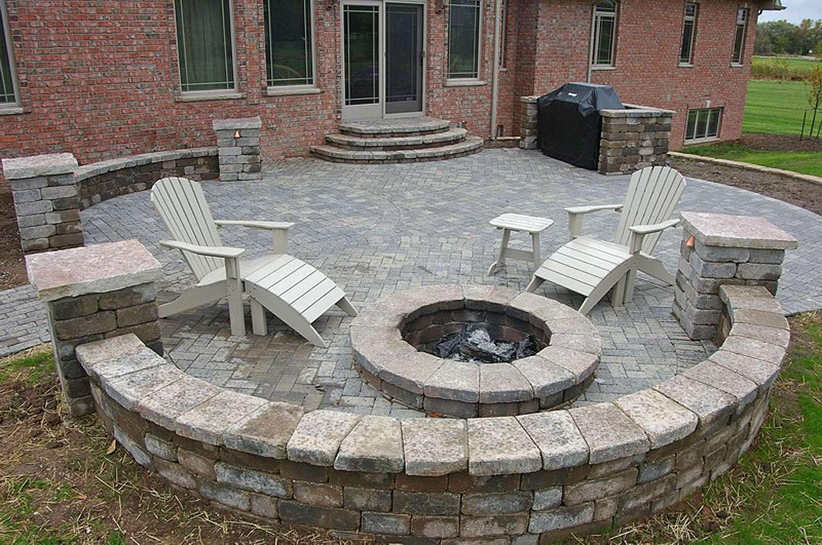 Fire Pit And Landscape Design In Appleton Wi