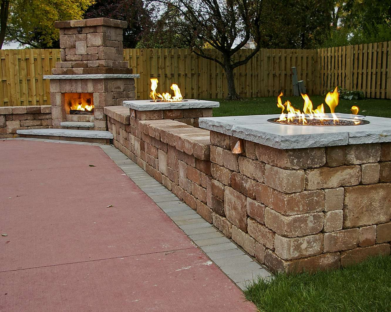 Outdoor Fireplace Landscaping Design in Appleton, WI on Fireplace In Yard id=51027