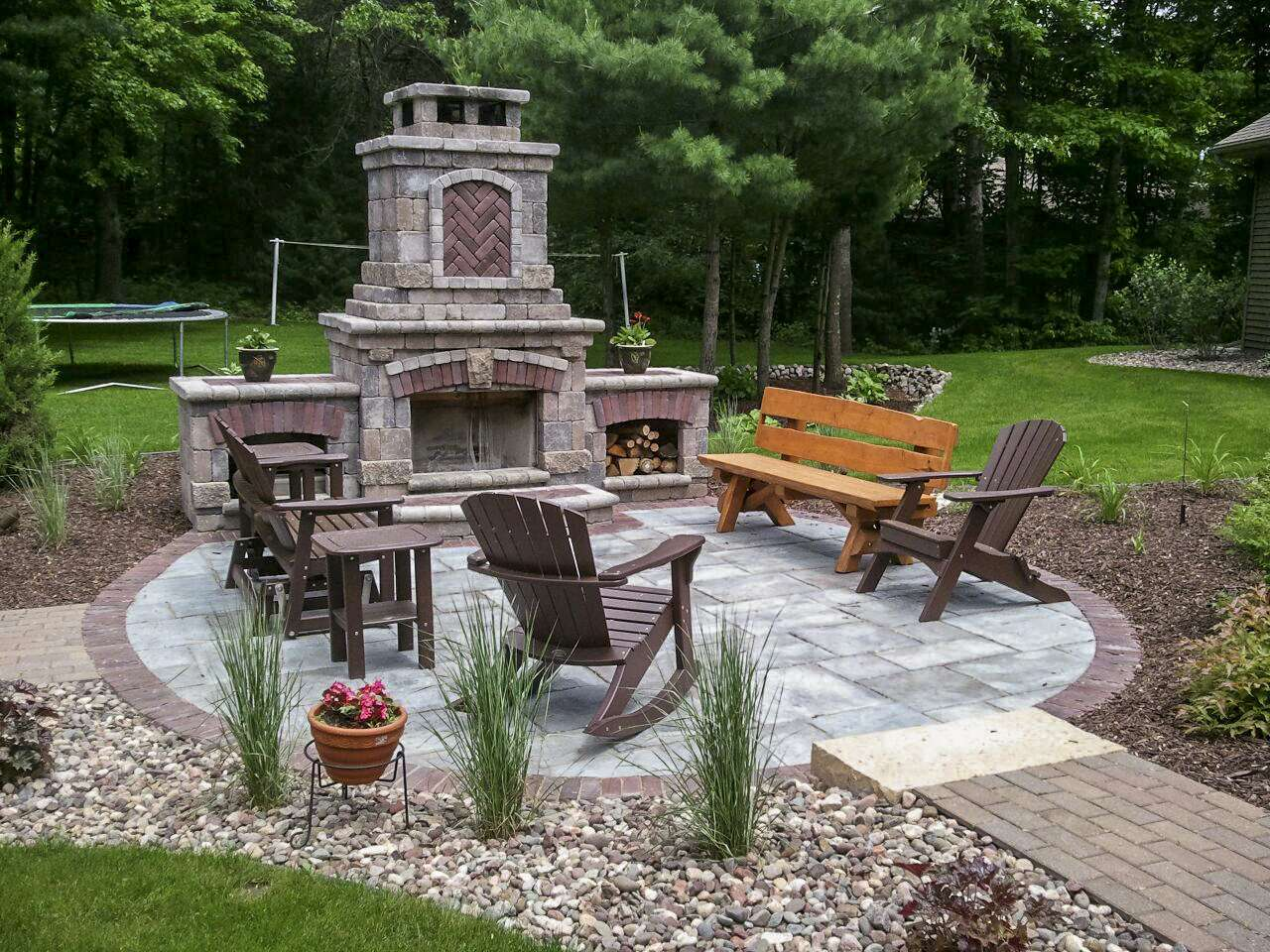 Outdoor Fireplace Landscaping Design in Appleton, WI on Outdoor Fireplaces Ideas  id=46152