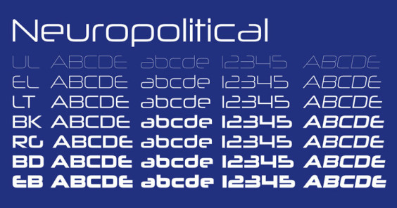 typefaces futurism