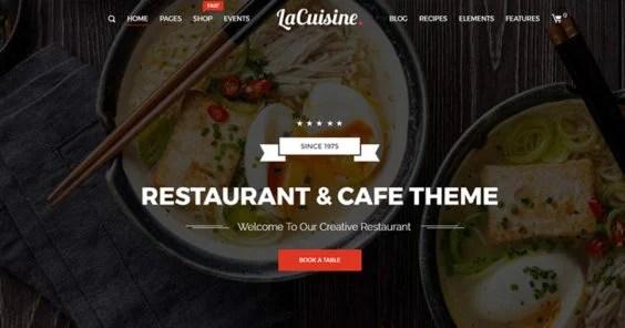 wp restaurant theme