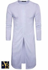 long long-sleeve white vanderbilt bijl