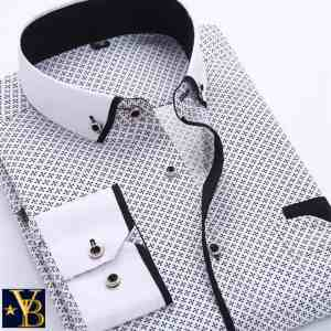 patterned button-down shirt