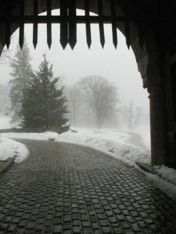 Vanderbilt Mansion with Snow