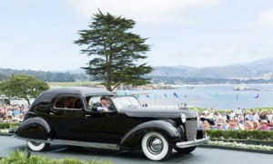 "Courtesy of Howard Kroplick Howard Kroplick in ""Chrysler's Chrysler"" at 2014 Pebble Beach Concours d'Elegance"