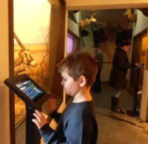 Vanderbilt photo by Maryann Zakshevsky Visitors try out the new Stoll Wing video-information kiosks