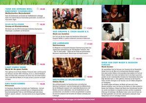 Programm des Konzertes der Kulturen Seite 2