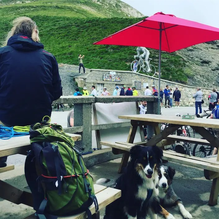 Frankreich Hund camping wandern col du Tourmalet