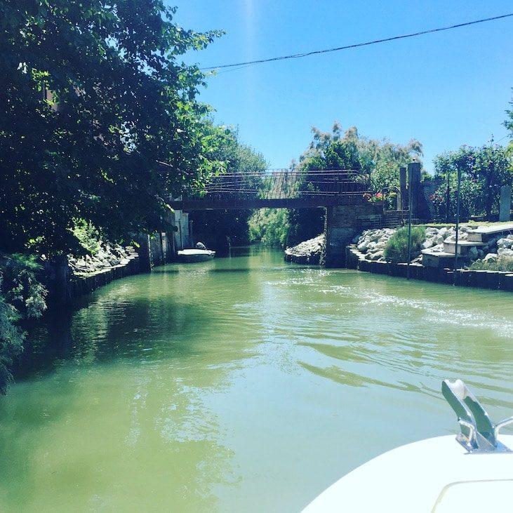 Laguna Nord Lagune von Venedig Torcello Boot Motorboot Kanal