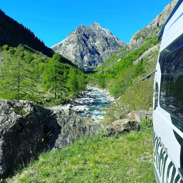 Camping Valle Gesso Piemont Italien Berge