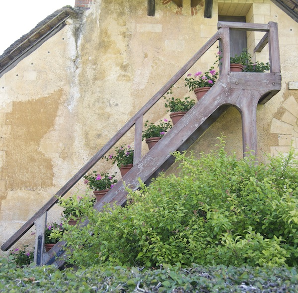 Hameau de la Reine - Flower pots on the stair