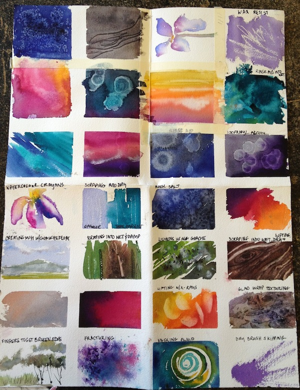 Watercolour samples. Georgia Mansur