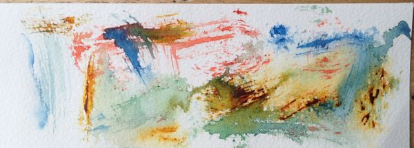 Watercolour painting - Sponge Marks