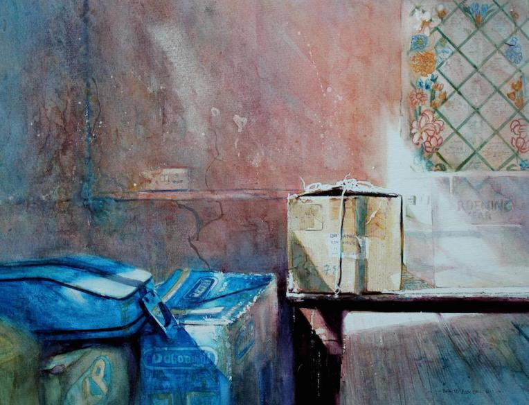 All Our Days by David Poxon (pure watercolour). Part of the RI watercolour exhibition