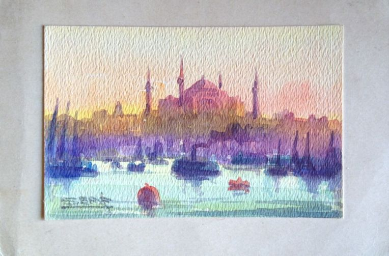 Watercolour Painting of Hagia Sophia