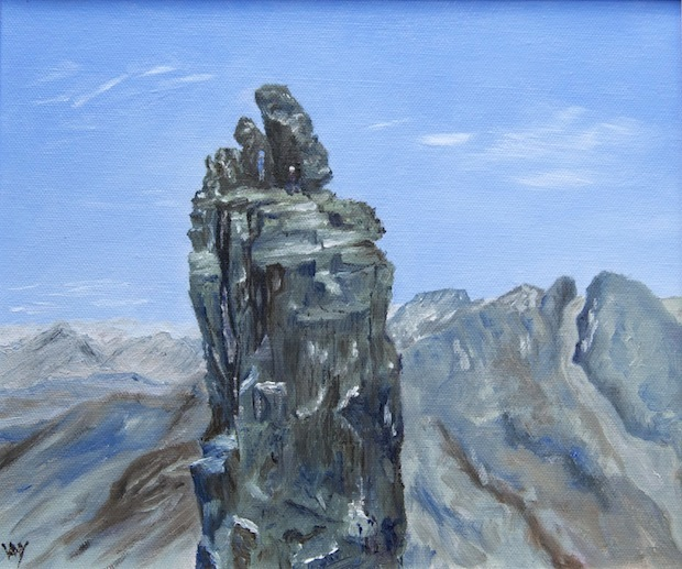 Inaccessible Pinnacle (oil 24 x 30 cm)