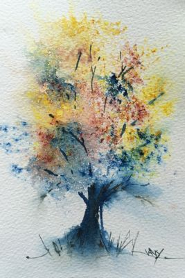 Summer Triad Tree Paintings