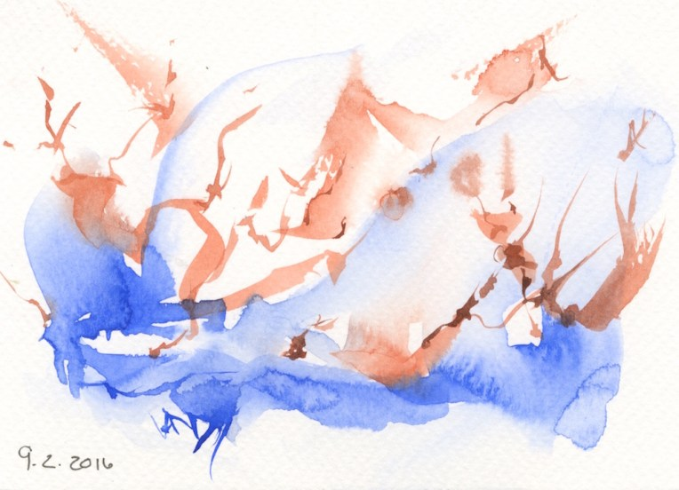 watercolour marks. Restless