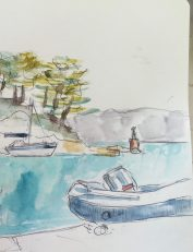 Trees on the bluff - from my Sketchbook