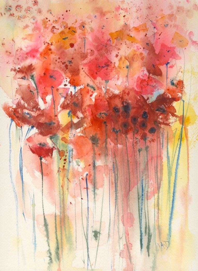 Win Poppies in the Sunlight at my 2016 Open Studio