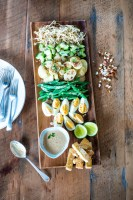 The Gado Gado Salad Platter board with a peanut dressing