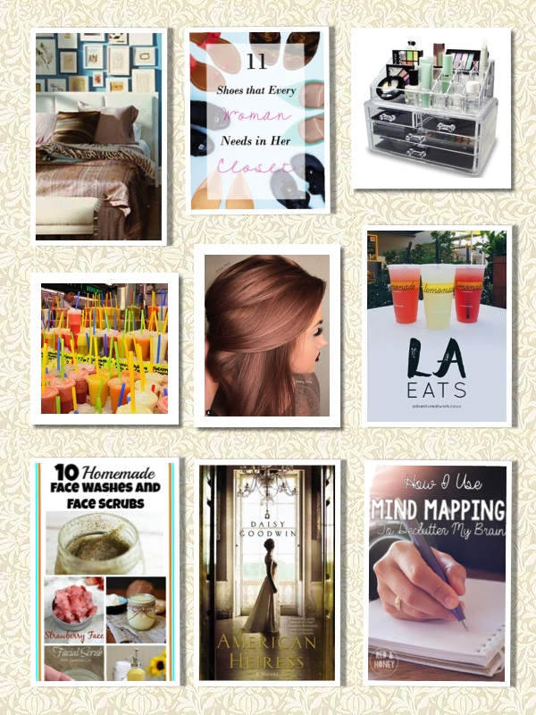 Photo Sources: Glamour, Daily Dose of Design, Buzzfeed, Lonely Planet, Popsugar, Adventure at Work, A Cultivated Nest, BookBub Blog, and Red and Honey - all via Pinterest