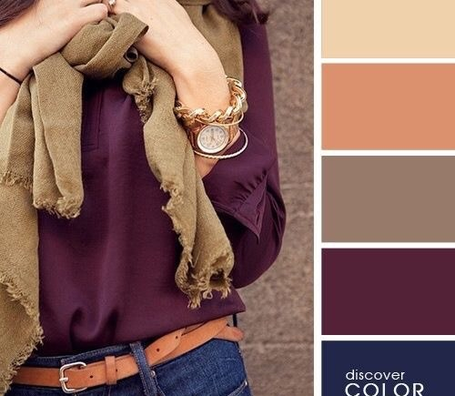what to wear with burgundy