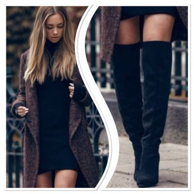 sweater dress with boots fi