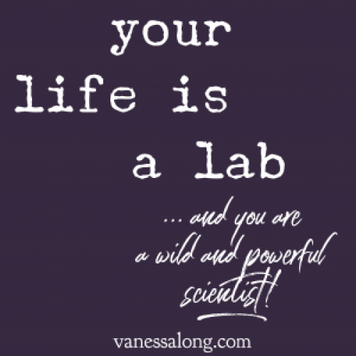your life is a lab and you are a wild and powerful scientist