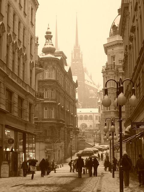 Snowy Day, Brno, Czech Republic