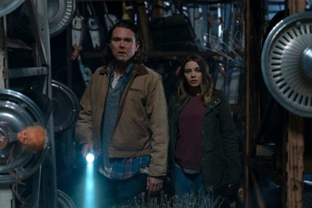 Clayne Crawford as Nathan and Josephine Langford as Clair