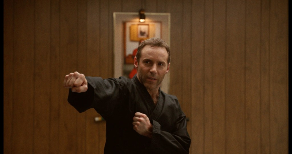 Alessandro Nivola as Sensai in The Art of Self-Defense 2019. Also stars Jesse Eisenberg and Imogen Poots.