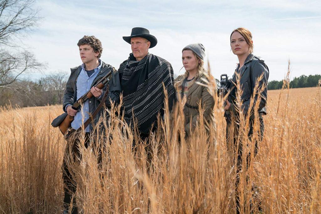 Woody Harrelson, Jesse Eisenberg, Abigail Breslin, and Emma Stone