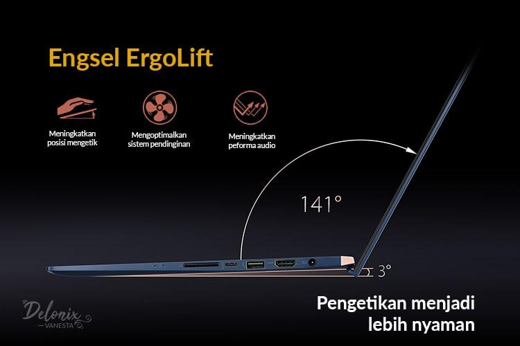 Asus ZenBook dengan Engsel ErgoLift