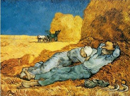 Vincent Van Gogh's The Siesta