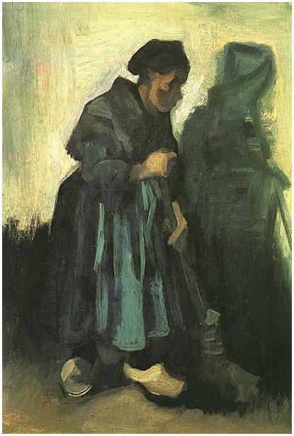 Peasant Woman Sweeping The Floor By Vincent Van Gogh 421