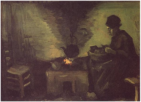 Peasant Woman By The Fireplace By Vincent Van Gogh 401