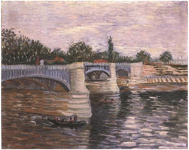 Seine With The Pont De La Grande Jette The By Vincent Van