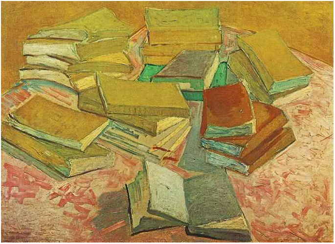 Still Life French Novels By Vincent Van Gogh 573 Painting
