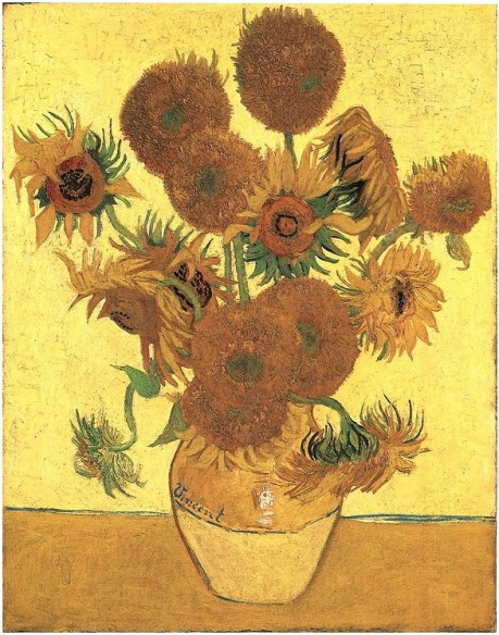 Vincent van Gogh's Still Life: Vase with Fifteen Sunflowers Painting