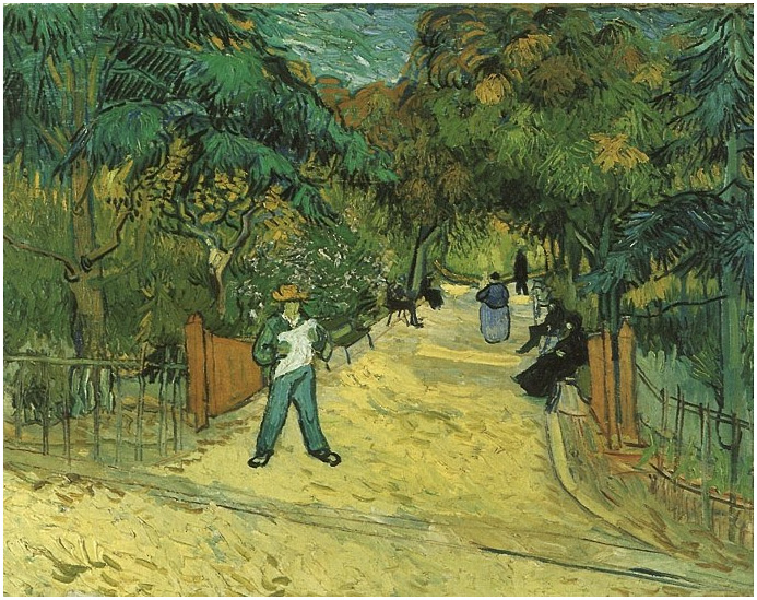 Entrance To The Public Park In Arles By Vincent Van Gogh 114