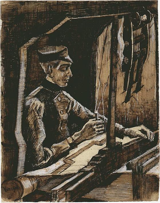 Weaver By Vincent Van Gogh 1703 Drawing