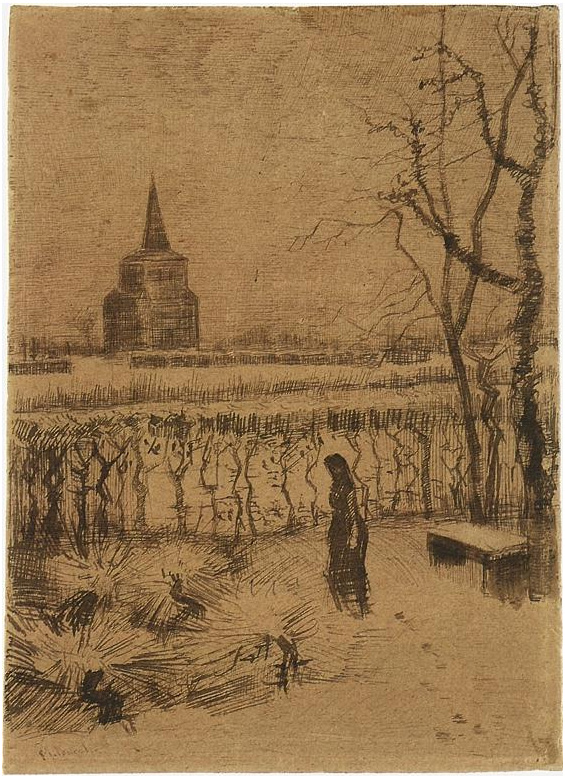 Melancholy By Vincent Van Gogh 1174 Drawing