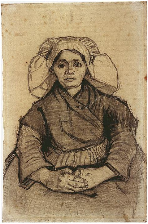 Seated Woman By Vincent Van Gogh 1447 Drawing