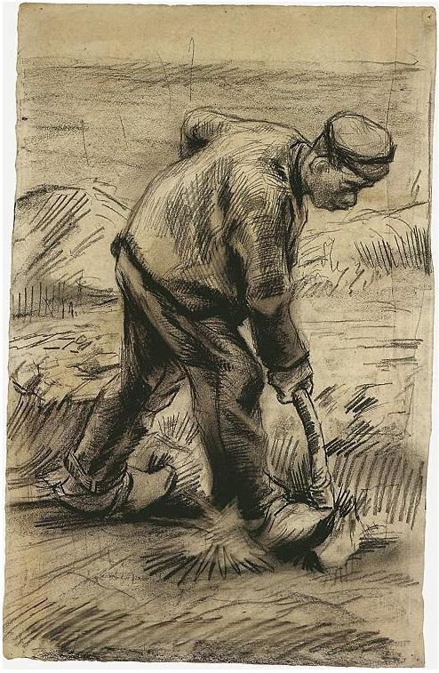 Digger By Vincent Van Gogh 877 Drawing