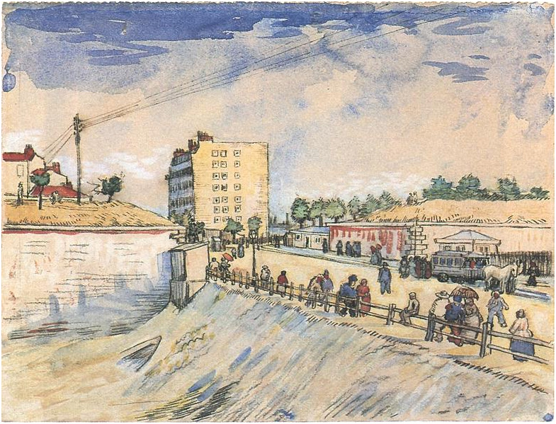 Gate In The Paris Ramparts By Vincent Van Gogh 1824