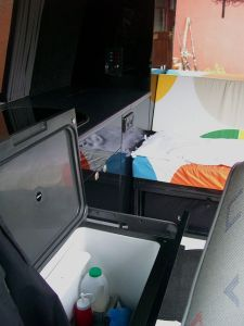 Slide out chest fridge